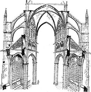 Готический собор в разрезе
