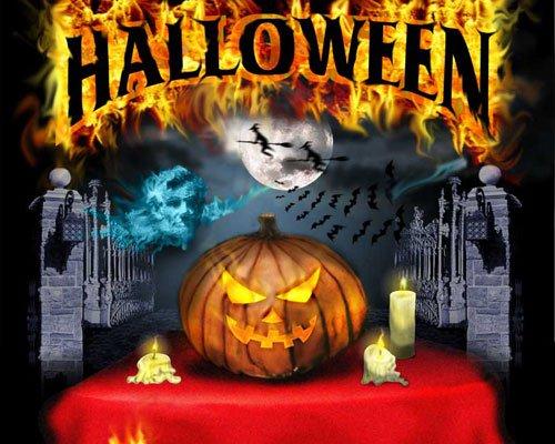 Хэллоуин - открытка