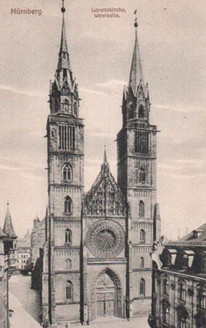 Готический собор в Нюрнбенрге