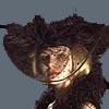 Готичная женская шляпка